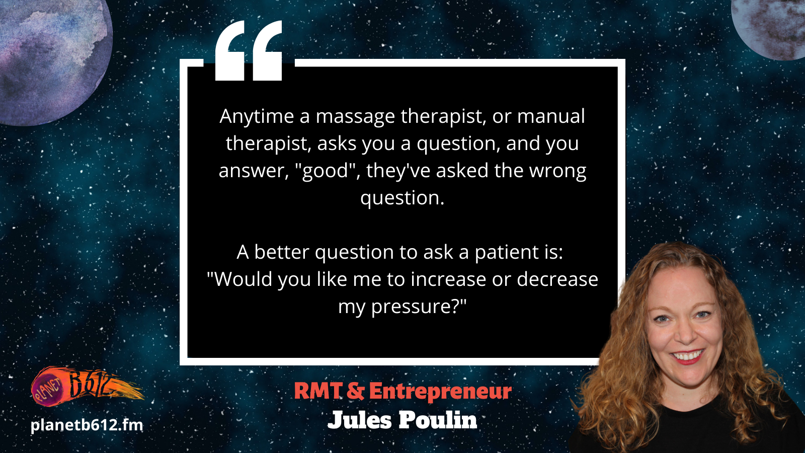 Jules Poulin talks about the importance of communication in massage therapy.
